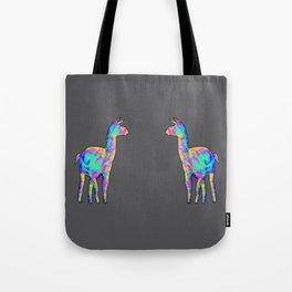 Neon Llama Tote Bag