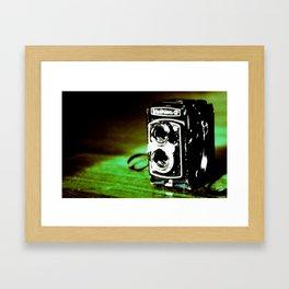 Green Yashica-D Framed Art Print