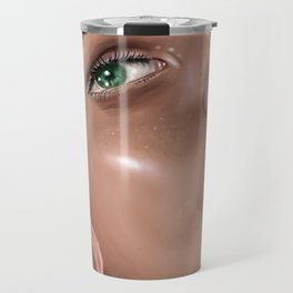 Green Eyes Travel Mug