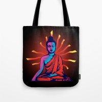 buddha Tote Bags featuring Buddha by famenxt