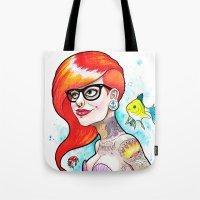 ariel Tote Bags featuring Ariel by Daniel Savoie
