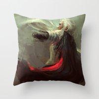 thranduil Throw Pillows featuring Thranduil by nlmda