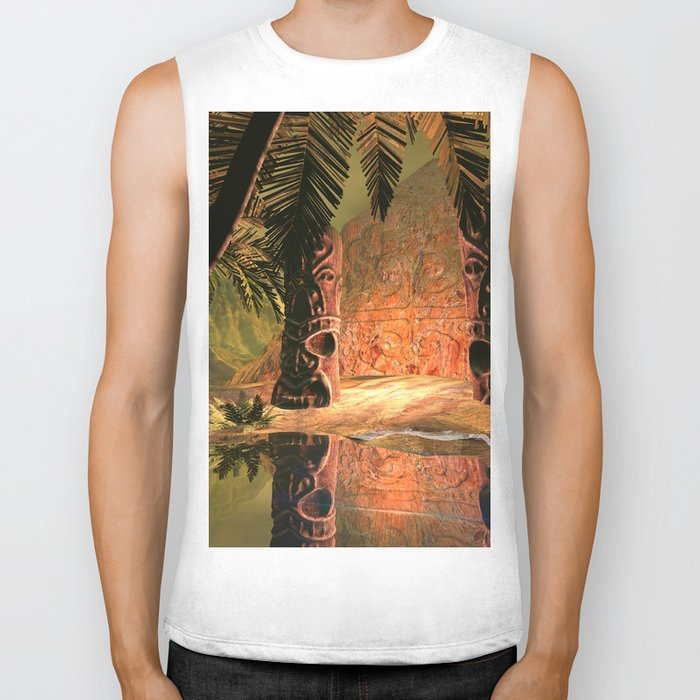 The magical temple Biker Tank