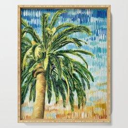 TROPICAL SUNSET   Palm Tree   Beach Decor   Wall Art   Original Art Serving Tray