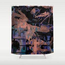 Aqua Village Hill Shower Curtain