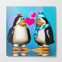 Penguin Romance Metal Print