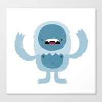 yeti Canvas Prints featuring Yeti by Monster Riot