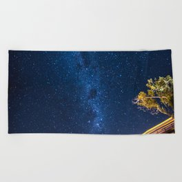 Milky Way Bridge Beach Towel