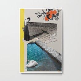 A Homeland souvenir #2: The theater, the swan & the oranges. Metal Print