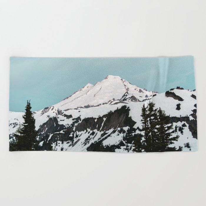 Turquoise Sky Mt. Baker Beach Towel