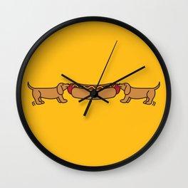 Hot Dog-O-War Wall Clock
