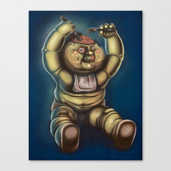 Tubby Zombie Canvas Print