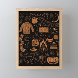 Autumn Nights: Halloween Framed Mini Art Print