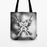 angels Tote Bags featuring Angels by haroulita