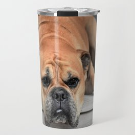 Bulldog waiting for family Travel Mug