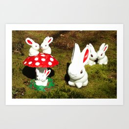 Bunny gnomes Art Print