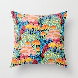 Fungi World (Mushroom world) - BKBG Throw Pillow