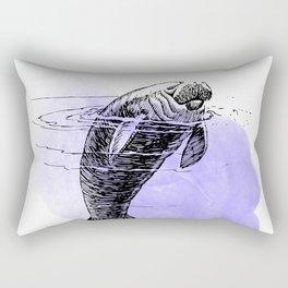 Purple Manatee Rectangular Pillow