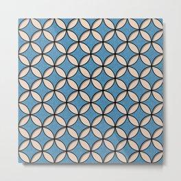 Denim and Skin Circles Pattern Metal Print