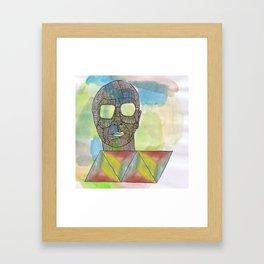 He is full of colour Framed Art Print