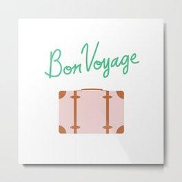 Bon Voyage \\ Suitcase Metal Print