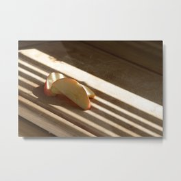 Apple Slices Metal Print