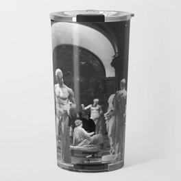 History of the World Through Renaissance Statues black and white photograph / black and white art photography Travel Mug