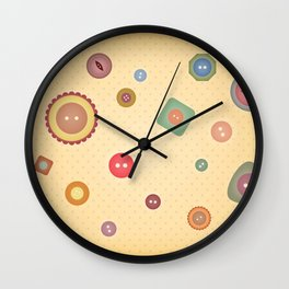 Sewing Illustration 3 - Button Collection Wall Clock