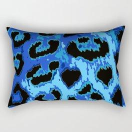 Blue Leopard Spots Rectangular Pillow