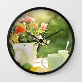 cake color cup Wall Clock