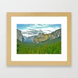 Yosemite POSTCARD Framed Art Print