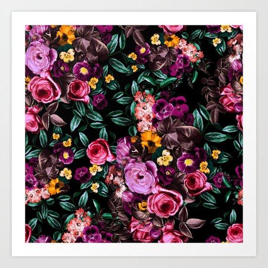 Watercolors Floral Pattern Art Print