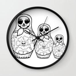 Russian Skull Doll Wall Clock