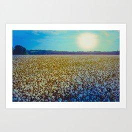 Rising Cotton Art Print