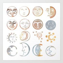 full moon ritual Art Print