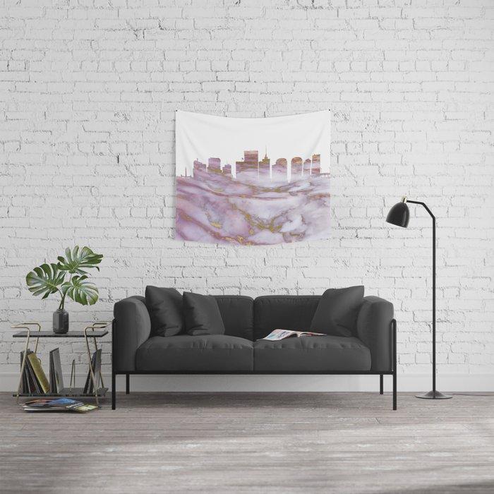 Richmond Virginia Skyline Wall Tapestry By Atw