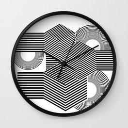 Minimal geometric black abstract Wall Clock