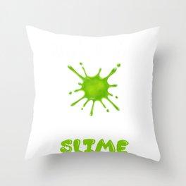 Slime Goo design for Girls Throw Pillow