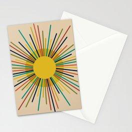 Sunbow 2 - Multicolor Mid Mod Sun Stationery Cards