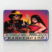 movie poster iPad Cases featuring Frankenpimp (2009) - Movie Poster by Tex Watt