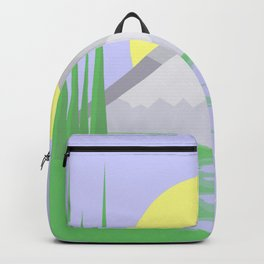 The mountains and the lake Backpack