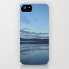 Klamath Lake with Moon reflecting iPhone Case