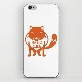Fur Fox Sake iPhone Skin