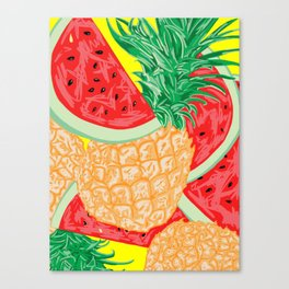 Watermelon and Pineapple, 2013. Canvas Print