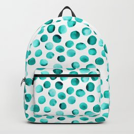 Watercolor Dots // Turquoise Backpack