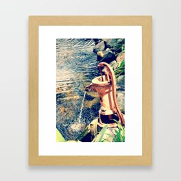 waterfountain2 Framed Art Print