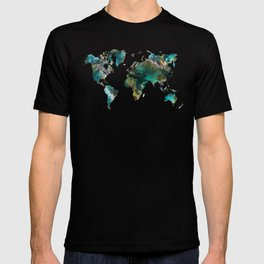 Map of the World tree T-shirt