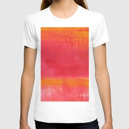 'Summer Day'  Orange Red Yellow Abstract Art T-shirt