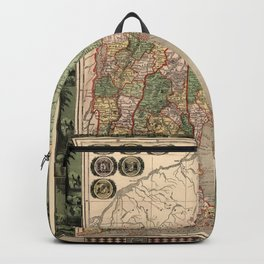 Map of New England 1847 Backpack