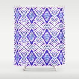 Dye Diamond Iridescent Blue Shower Curtain